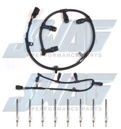 details about 05 07 6 0l powerstroke diesel oem motorcraft glow plug set 8 harness f250 f350 [ 1600 x 1600 Pixel ]