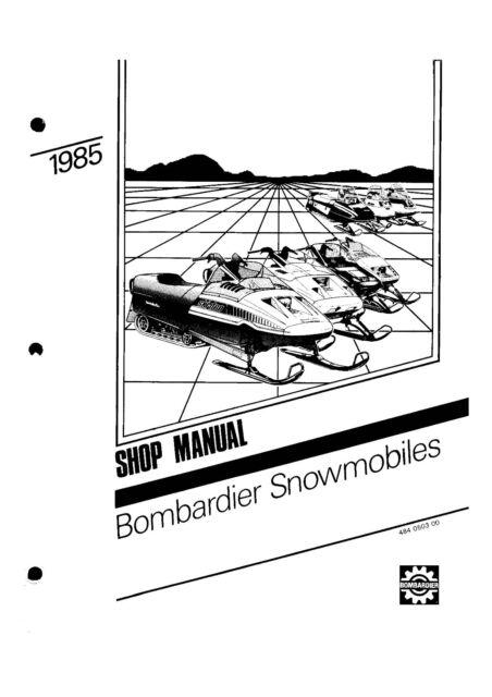Bombardier service shop manual 1985 SAFARI 377 E & 1985