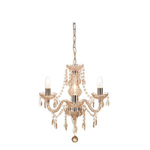 Image Is Loading Shabby Chic 3 Light Ing Ceiling Chandelier Champagne