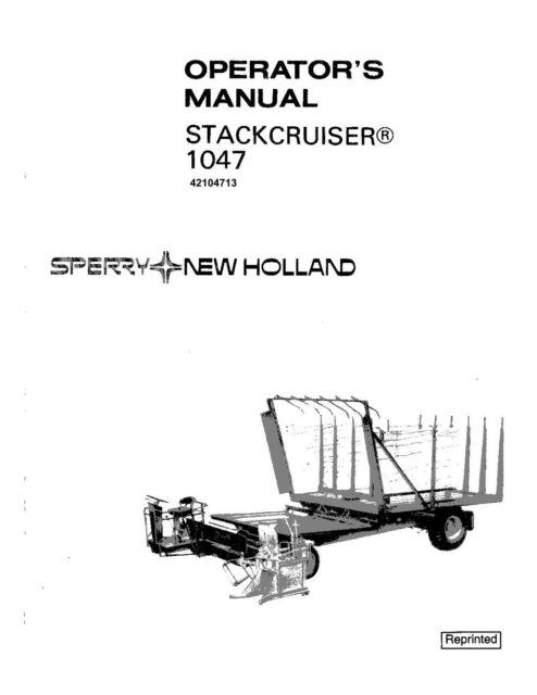 New Holland Super 1048 Stackcruiser Bale Wagon Operator's