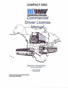 COMMERCIAL DRIVER'S MANUAL FOR CDL TRAINING (RHODE ISLAND