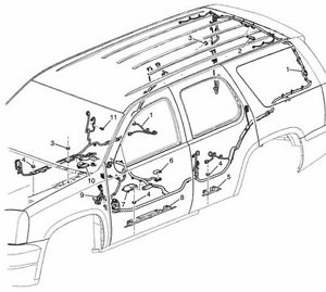 2012-14 Escalade Tahoe Yukon New Genuine OEM Wiring