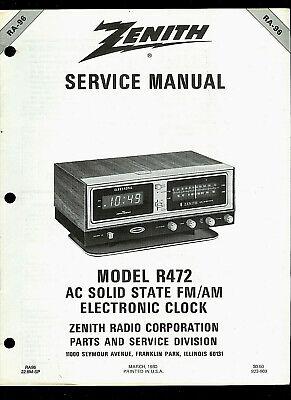 Zenith R472 FM/AM Digital Clock Radio Original Factory