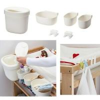 IKEA Baby Change Table Nappy Baskets Holder Storage ...
