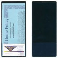 Black Plastic Insurance Policy Holders w card holder- 10 ...