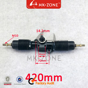 details about 420mm power steering gear shaft rack pinion assembly for diy china go kart buggy