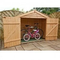 Bike Storage Shed Wooden Outdoor Garden Store Bikes Tools ...