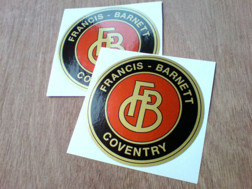 Motorcycle Accessories Francis Barnett Gold Vintage Classic Car Helmet Motorcycle Stickers 2 Off 80mm Motorcycle Decals Emblems Flags