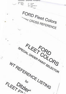 1970'S FORD TRUCK FLEET COLORS SPECIAL ORDER PAINT WT