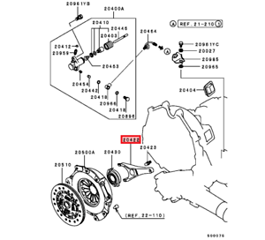 MITSUBISHI 3000GT 1991-1999 NEW OEM M/T CLUTCH FORK