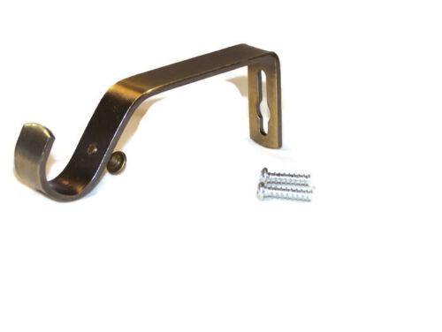 rollos gardinen vorhange heavy duty antique brass gold curtain pole center brackets 1 2 or 3 19mm dia mobel wohnen freezer labels com