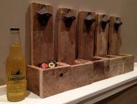 Wall Mounted Beer Bottle Opener With Cap Catcher Rustic ...