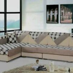 Custom Sectional Sofa Wooden Design 2017 Quilted Microfiber Couch Slipcovers Furniture Image Is Loading