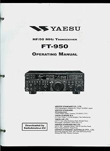 Copy* Yaesu FT-950 HF/50 MHz Ham Radio Transceiver Owner's