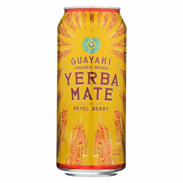 Guayaki-Yerba Mate - Revel Berry Pack of 12 ( 15.5 FZ ...