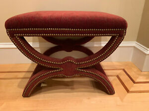 details about estate 2 gorgeous rectangular garnet dante x bench ottoman set