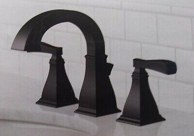 delta lakewood matte black two handle 8 widespread bathroom 35718 bl dst ebay