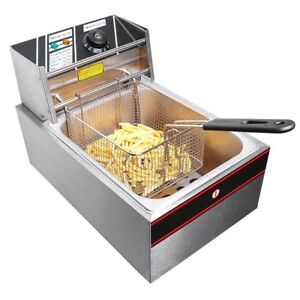 6L Electric Countertop Deep Fryer Commercial Basket French