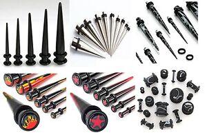 Expander Ohr Piercing Dehner Dehnstab Plug Acryl Stahl als Set oder Einzeln NEU