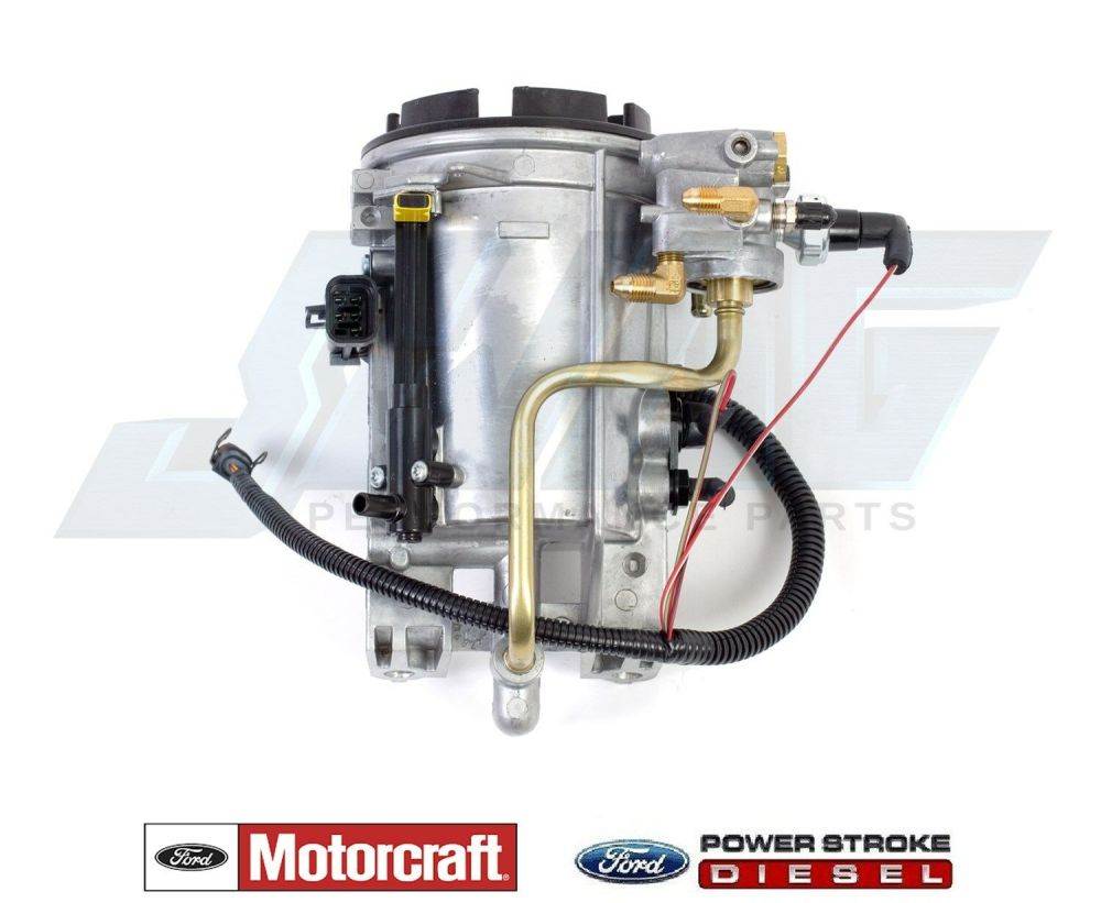 medium resolution of 96 97 ford 7 3l powerstroke diesel genuine motorcraft oem fuel filter housing