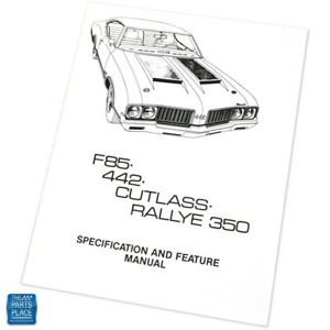 1970 F85 442 Cutlass Rallye 350 Specification & Feature