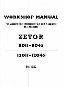 ZETOR 8011 8045 3 TRACTOR OP PARTS WORKSHOP MANUALs, PDF