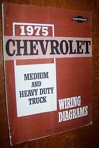 1975 CHEVROLET LIGHT MEDIUM HEAVY DUTY TRUCKS WIRING