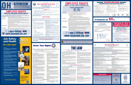 other safety signs traffic control all on one 2018 ohio state federal labor law poster business industrial
