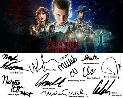 stranger things cast signed autograph 8x10 reprint photo ebay