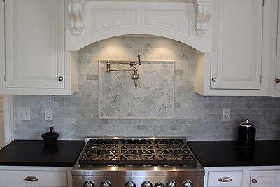 bianco carrara polished marble tile 2 7 8 x5 3 4 x3 8 100 sq ft ebay