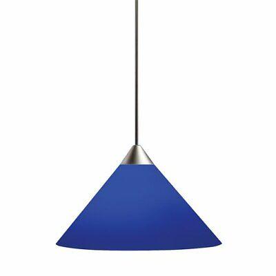 juno track lighting tlp310cobalt decorative pendant short cone glass shade nib ebay