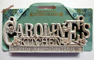 kitchen plaques cleaning services personalized named hangers hazel s kates image is loading 039