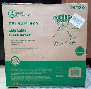 details about garden treasures pelham bay round outdoor bistro table 20 x 20 new in box