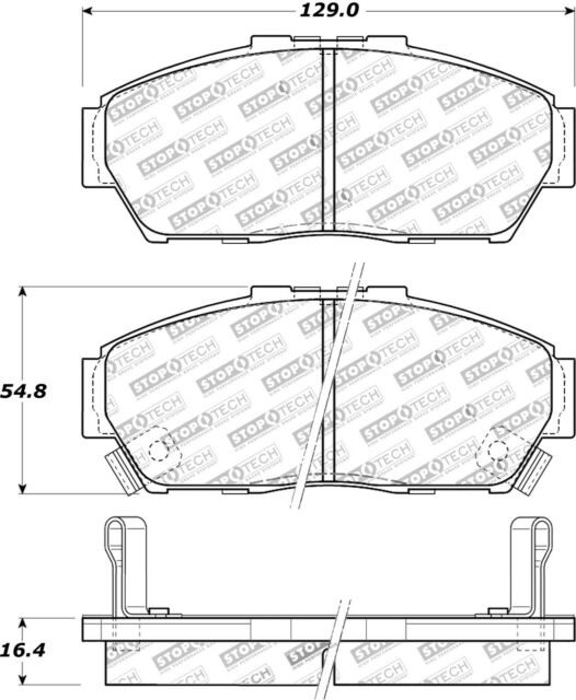 StopTech Disc Brake Pad Set Front for Honda Civic / Acura