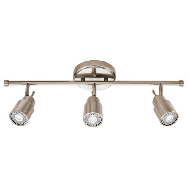 lithonia lighting led track light kit brushed nickel 2 ft 3 lights 221c75