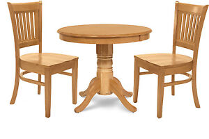 kitchen dinette set bar stool 3 piece 36 round table dining 2 chairs in oak image is loading 034