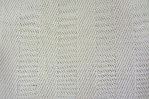 Cream Herringbone Striped Cotton 140cm wide Curtain
