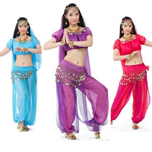 Bollywood Indian Belly Dance Costume Top Pants Outfit ...