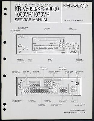 Kenwood KR-V8090/V9090/1060VR Original Av Receiver Service