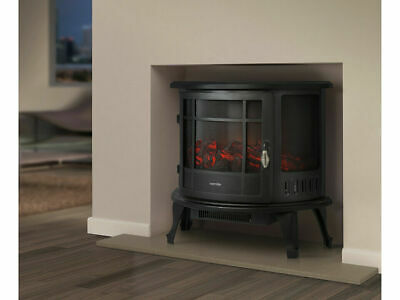 Fireplace Electric Heater Metal Log Burning Flame Effect Living Room Stove 1800w Ebay