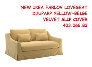Sofa arms are susceptible to dirt, spills and getting worn. IKEA FARLOV LOVESEAT SLIPCOVER COVER SOFA VELVET YELLOW ...