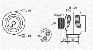 Alternator Magneti Marelli Fits ABARTH Punto FIAT LANCIA