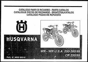 Husqvarna Parts Manual Book 1999 WR 250 USA, WR 250 & CR
