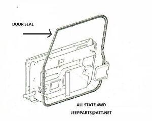 JEEP CJ YJ WRANGLER 1976-95 DOOR SEALS, BOTH FRONT DOORS