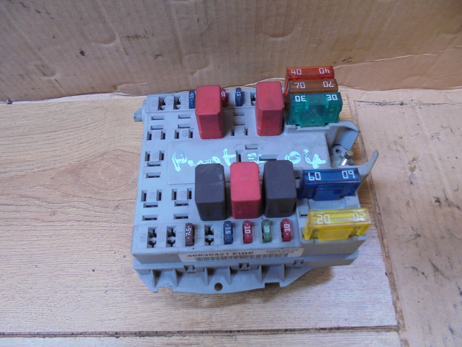hight resolution of fiat punto 2004 1 2 8v external engine bay fuse box fire a653