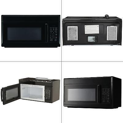 magic chef microwave oven 1 6 cu ft over the range hood light ventilation black 665679003549 ebay