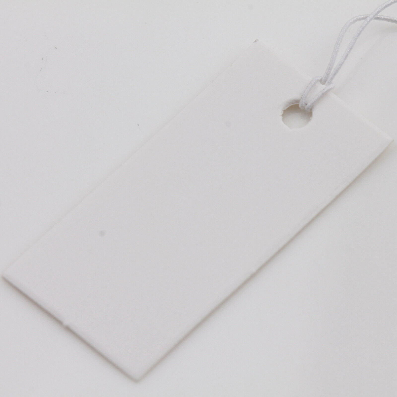 100X White Rectangle Price Tags Jewelry Label Elastic