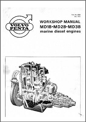 Volvo Penta MD1B MD2B MD3B Marine Engines Service Manual