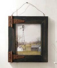WINDMILL BARN DOOR RUSTIC WOOD PICTURE FRAME SHABBY ...