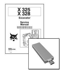 Bobcat X325 X328 Excavators Workshop Repair Service Manual